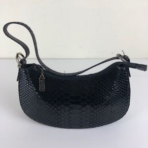 Stuart Weitzman Mini Shoulder Embossed Leather Bag